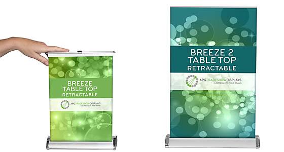 Breeze Table Top Retractable Banner Stands