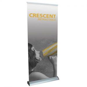 Crescent Retractable Banner Stands