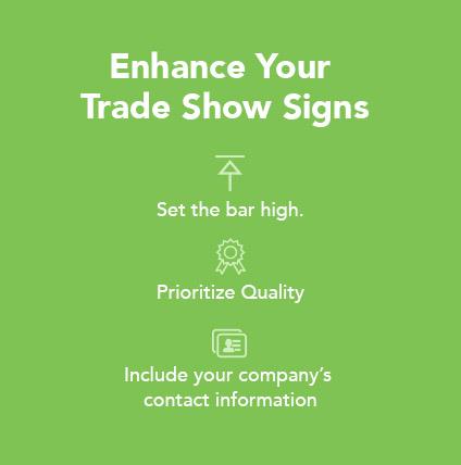 enhance trade show signs