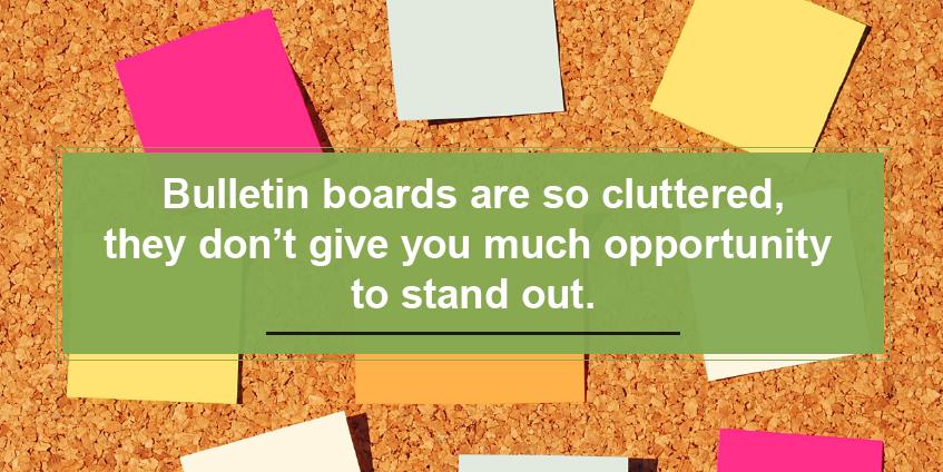 no bulletin boards