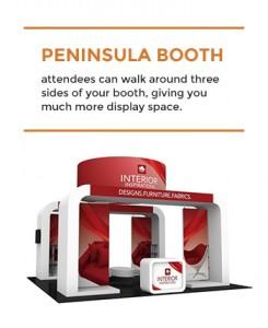 peninsula booth size