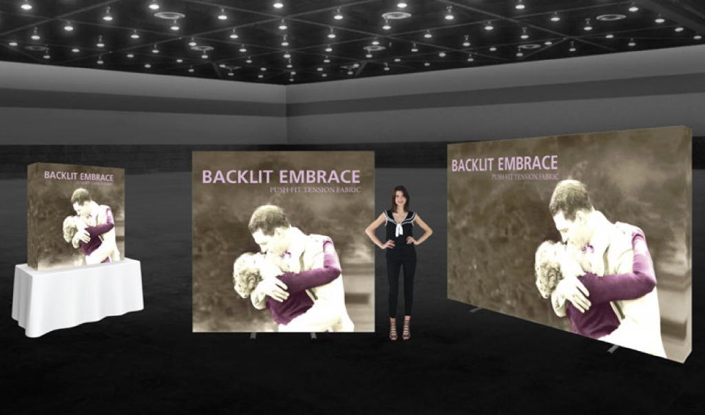 Embrace Backlit Trade Show Displays