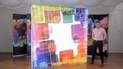 Backlit Hopup Trade show Display