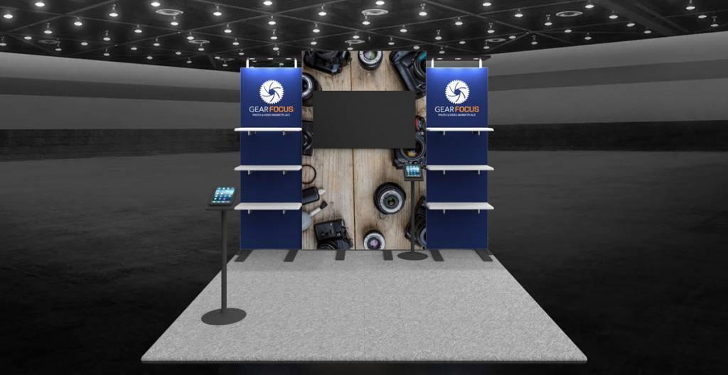 Gear Focus 10x10 Exhibit Booth