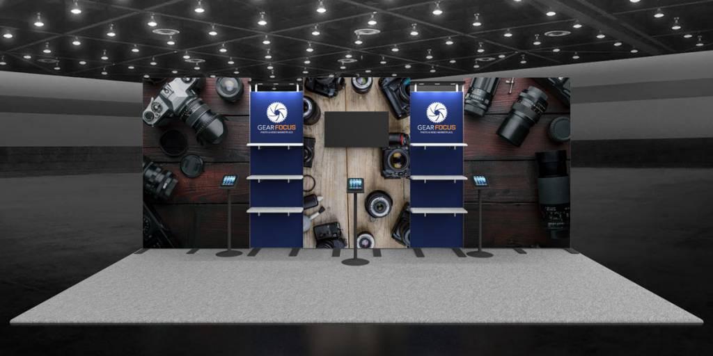 Gear Focus 10x20 Exhibit Booth