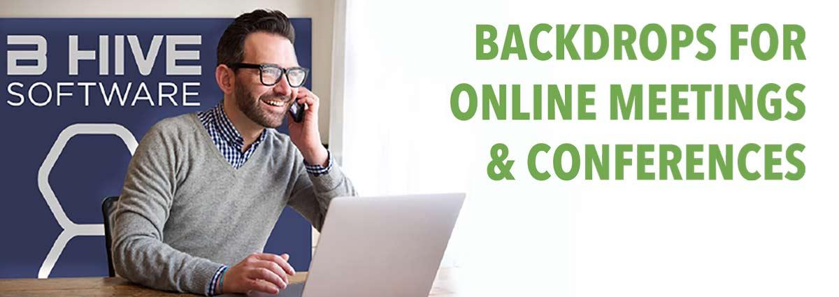 telework video backdrop online conference background displays