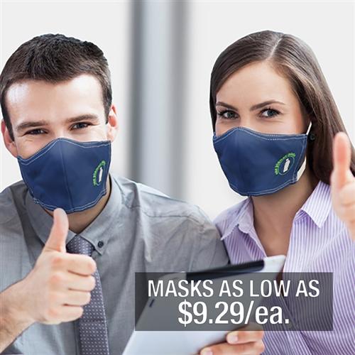 Custom branded face masks