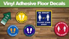 Social Distancing Vinyl Adhesive Floor Decals