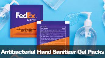 Antibacterial Hand Sanitizer Gel Packs from APG Exhibits