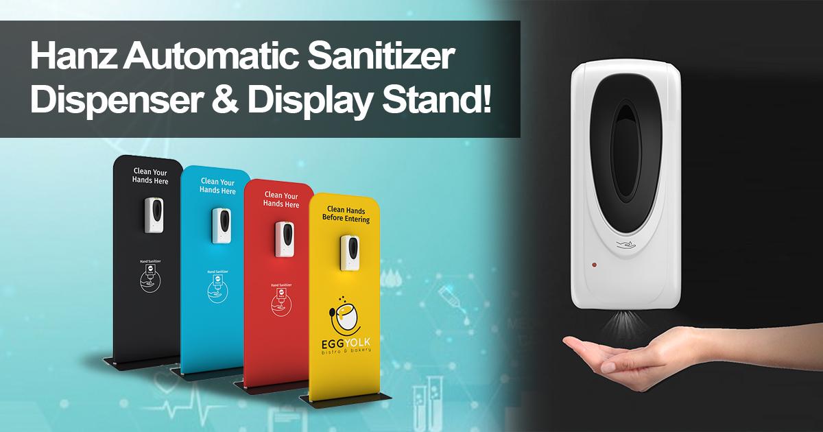 Hanz Automatic Hand Sanitizer Dispenser Station