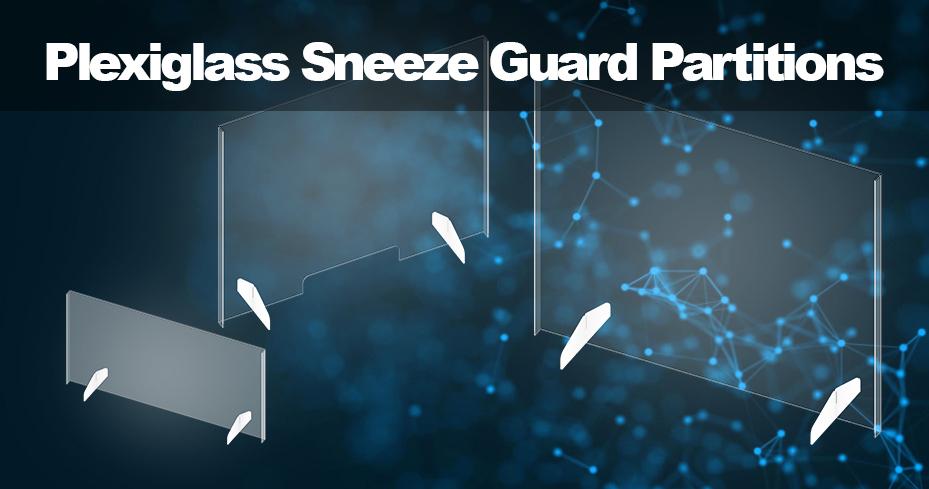 Plexiglass sneeze guard partitions