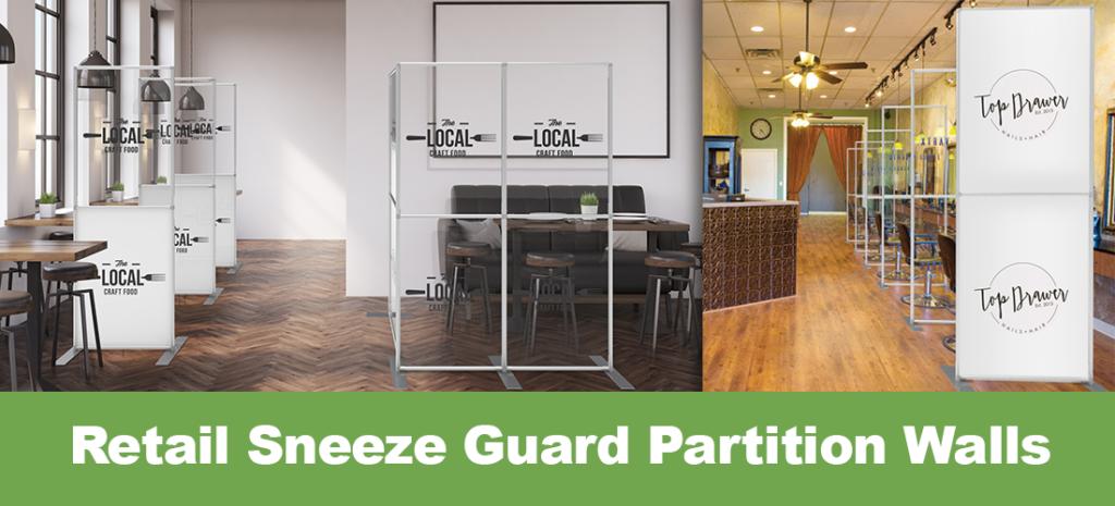 Retail Sneeze Guard Partition Walls