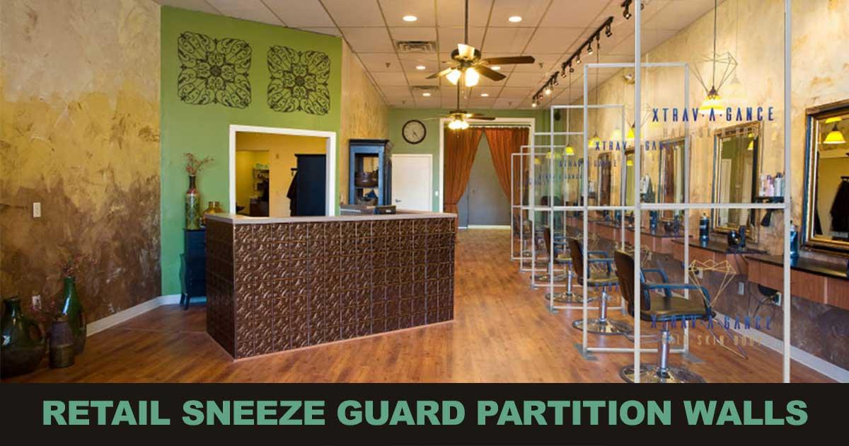 Retail Business Sneeze Guard Walls
